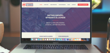 Wynants & zonen - Nieuwe website